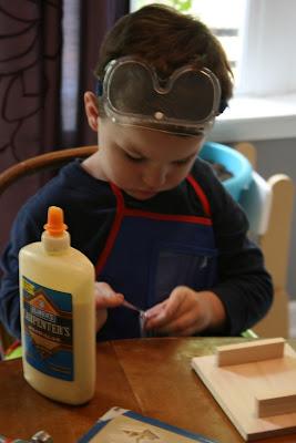 montessori building bird feeder