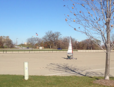 Man Bike Sailing on Belle Isle in Detroit