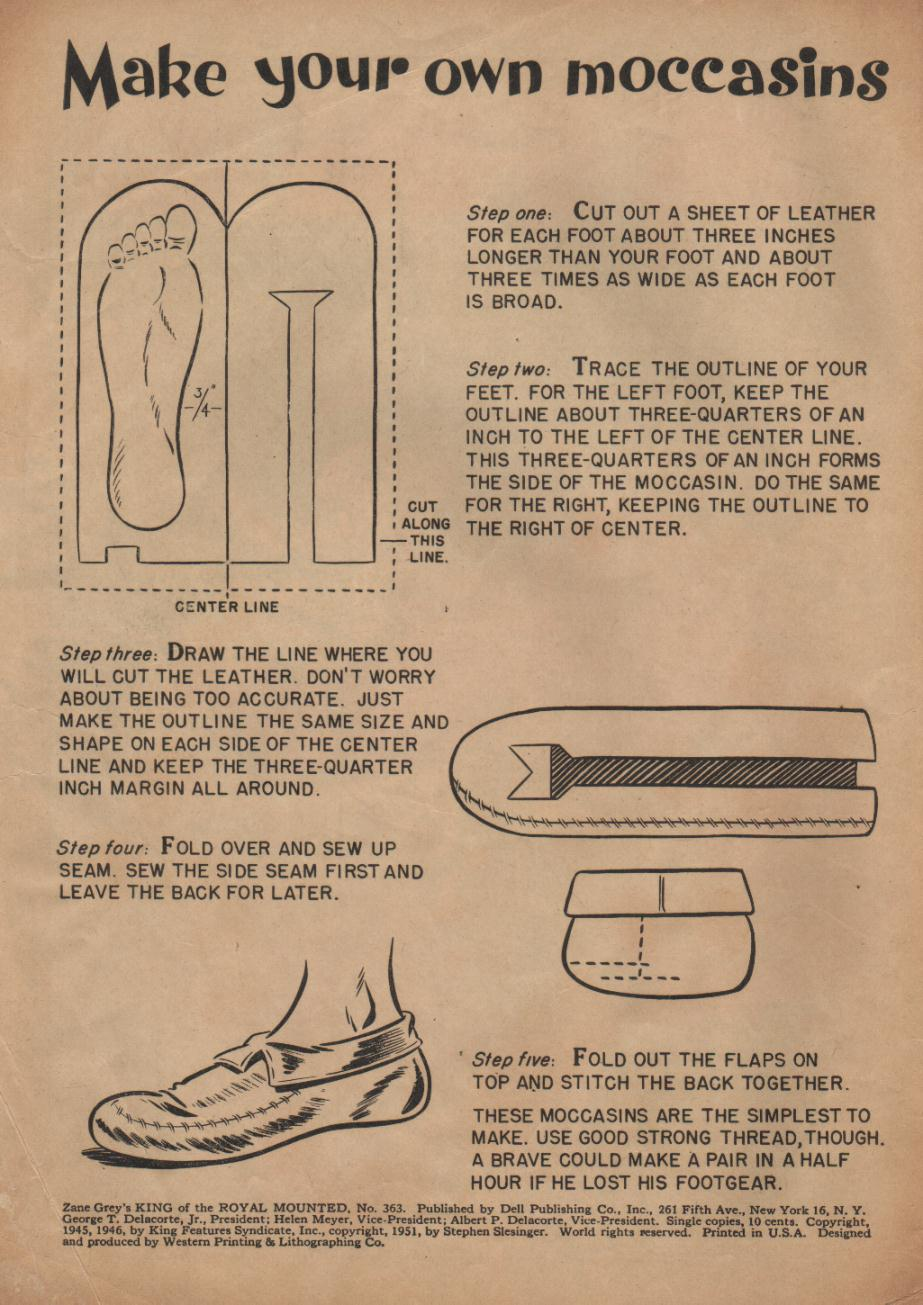 Saved From The Paper Drive Make Your Own Moccasins Dell