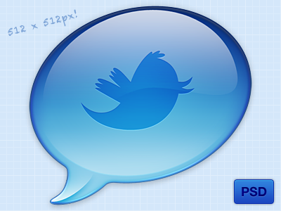 Twitter Icon (Freebie PSD)