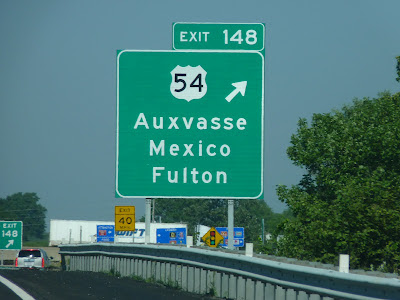 Auxvasse, Mexico, Fulton: nice mix of names