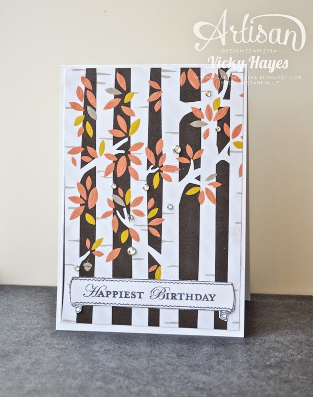 New designer paper ideas from Artisan team member and UK Stampin' Up demonstrator Victoria Hayes