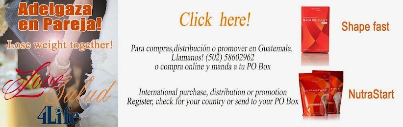 Adelgaza en pareja! Tel 502 -58602962 International buyers or product promotors register online. -