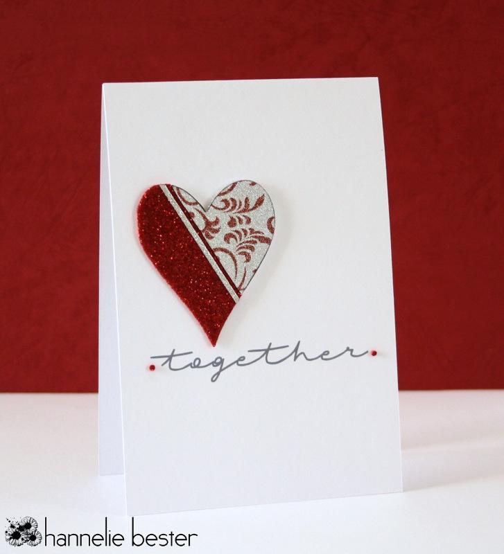 Glitter heart card