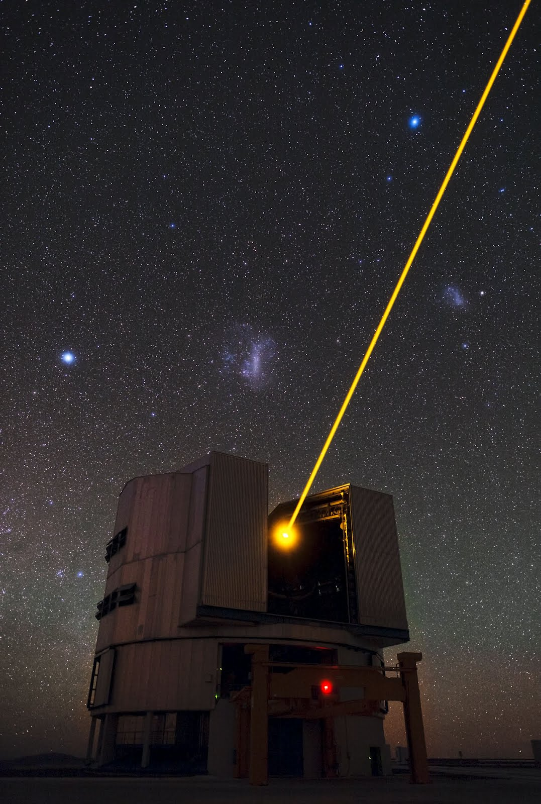 Milky Way Galaxy Laser