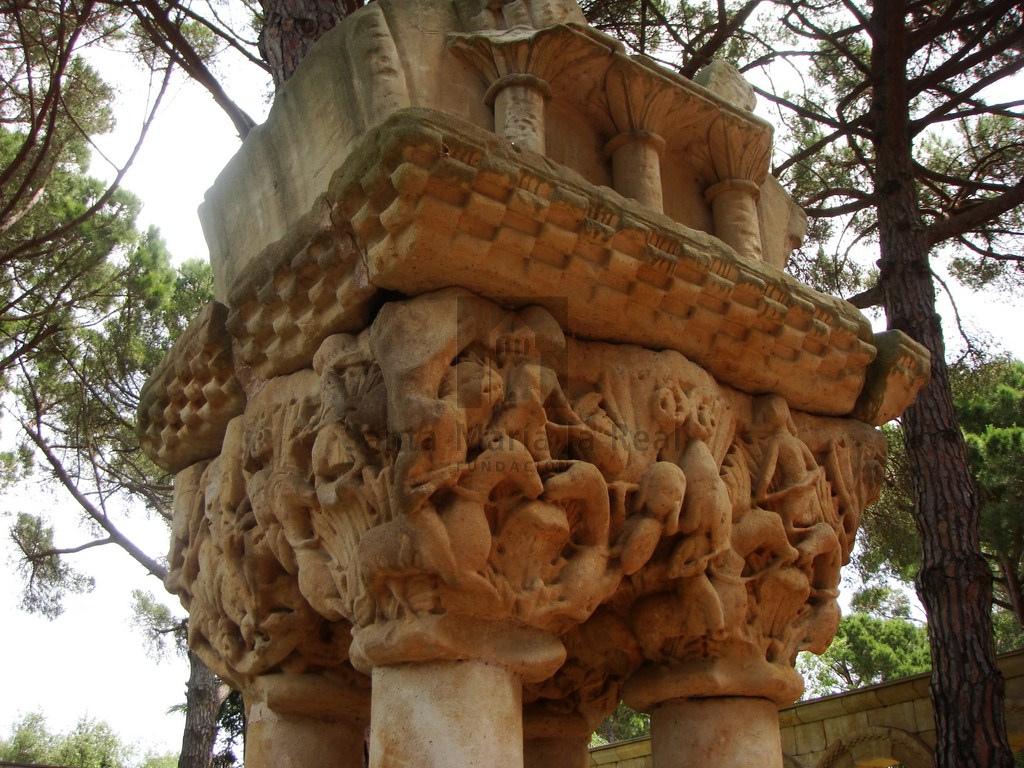 Capitel Palamos cuádruple aparición San Millan en la batalla de Hacinas