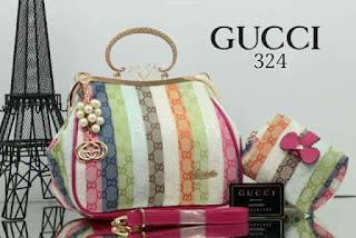 Tas KW Gucci Armore Behel Rainbow 2in1 324AR Jakarta