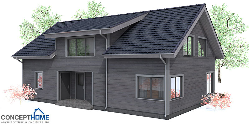 Affordable home plans affordable home ch91 for Small easy to build cabin plans