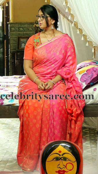 Anushka Dual Shade Benaras Sari