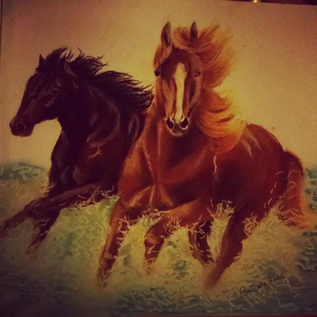 Rysunek konie