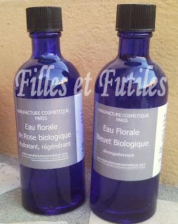SNC05306 Eaux florales biologiques de rose et de bleuet   La Manufacture Cosmétique