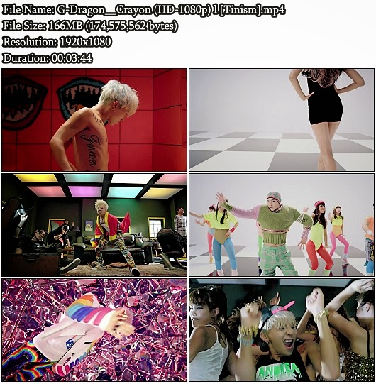 Download MV G-Dragon (Big Bang) - Crayon (크레용) (Full HD 1080p)