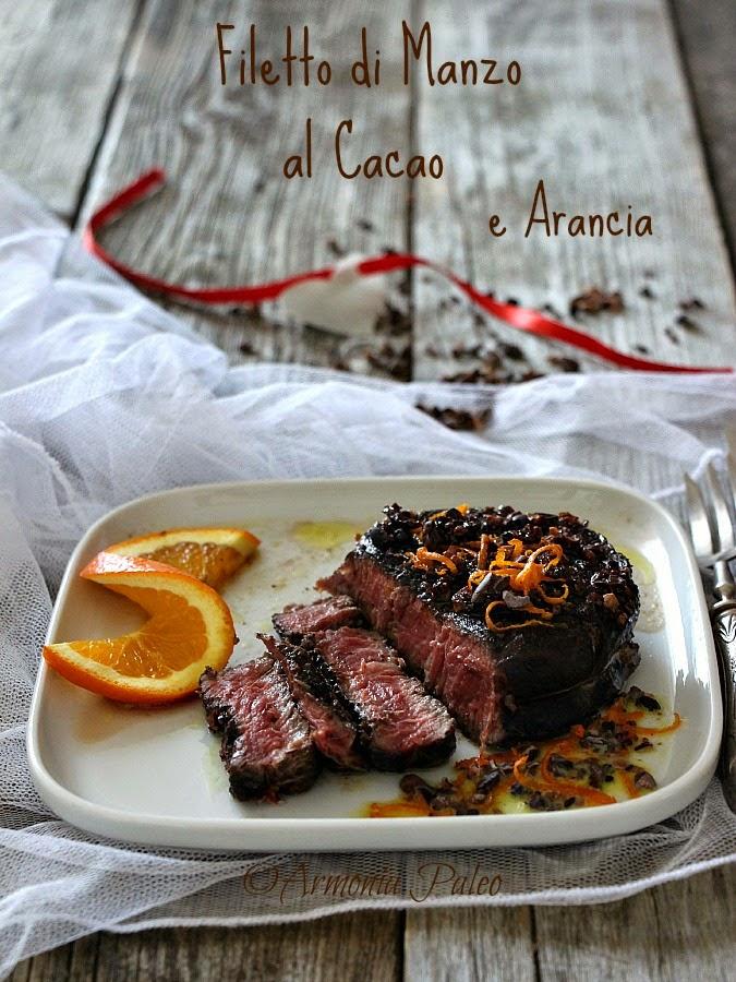 Filetto di Manzo al Cacao e Arancia di Armonia Paleo
