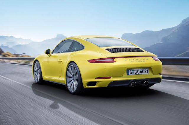 2016 Next Porsche 911 Carrera and targa revealed  back view