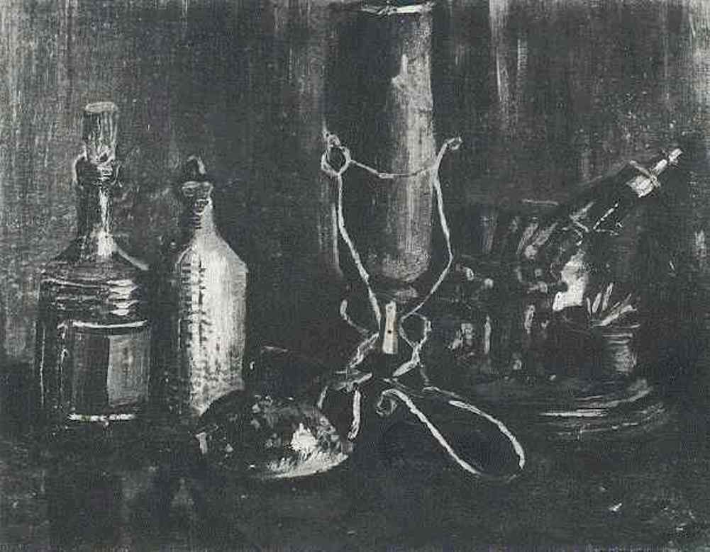 Still Life with Bottles and a Cowrie Shell (F 64, JH 537) by Vincent van Gogh