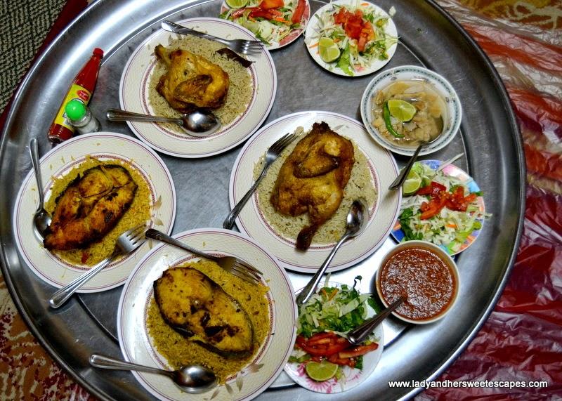 Omani Food at Bin Ateeq restaurant