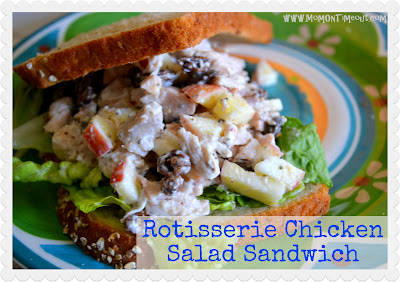 Rotisserie Chicken Salad Sandwich | MomOnTimeout.com - Rotisserie Chicken Salad Sandwich recipe that utilizes the delicious and convenient flavors of a Rotisserie Chicken! #sandwich #recipe