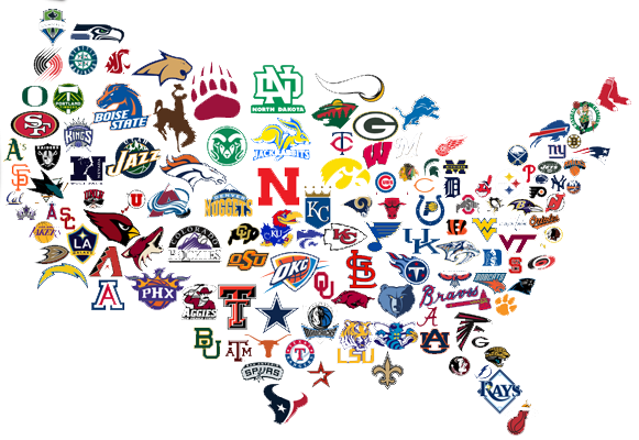 College football teams clip art
