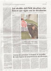 Diari El País dimarts 20 de Novembre del 2012