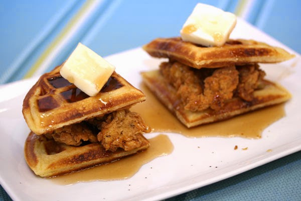 Double Chicken and Waffle Sandwiches