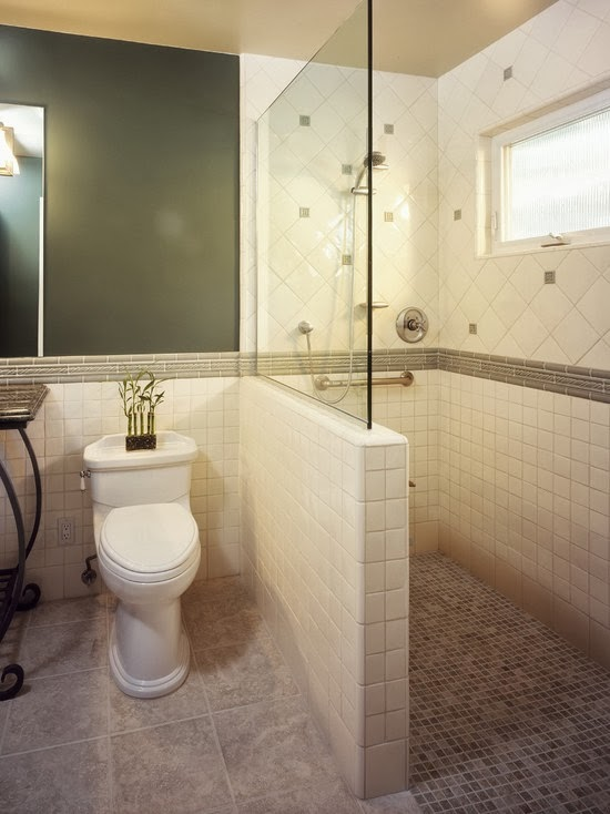 Houzz tiled showers joy studio design gallery best design for Small bathroom design houzz
