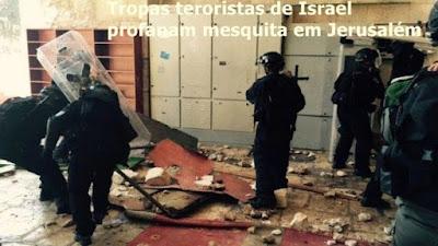 Terrorismo israelense ataca mesquita em Jerusalém