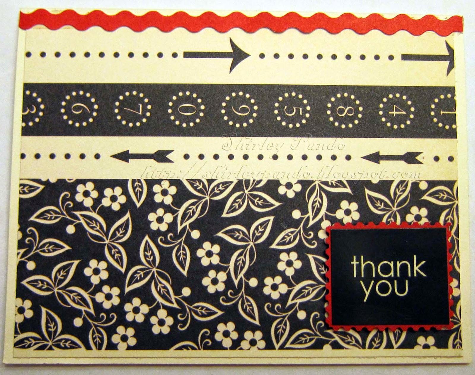 Horizontal Thank You Card