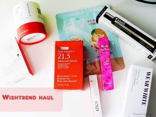 WISHTREND Haul: Wishbox, Vitamin C21.5 serum, Enca pink powder and more