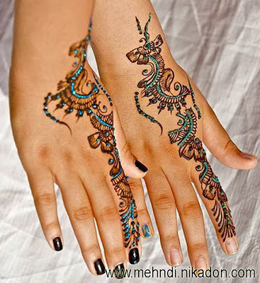 Glitter Henna Mehndi Designs Images