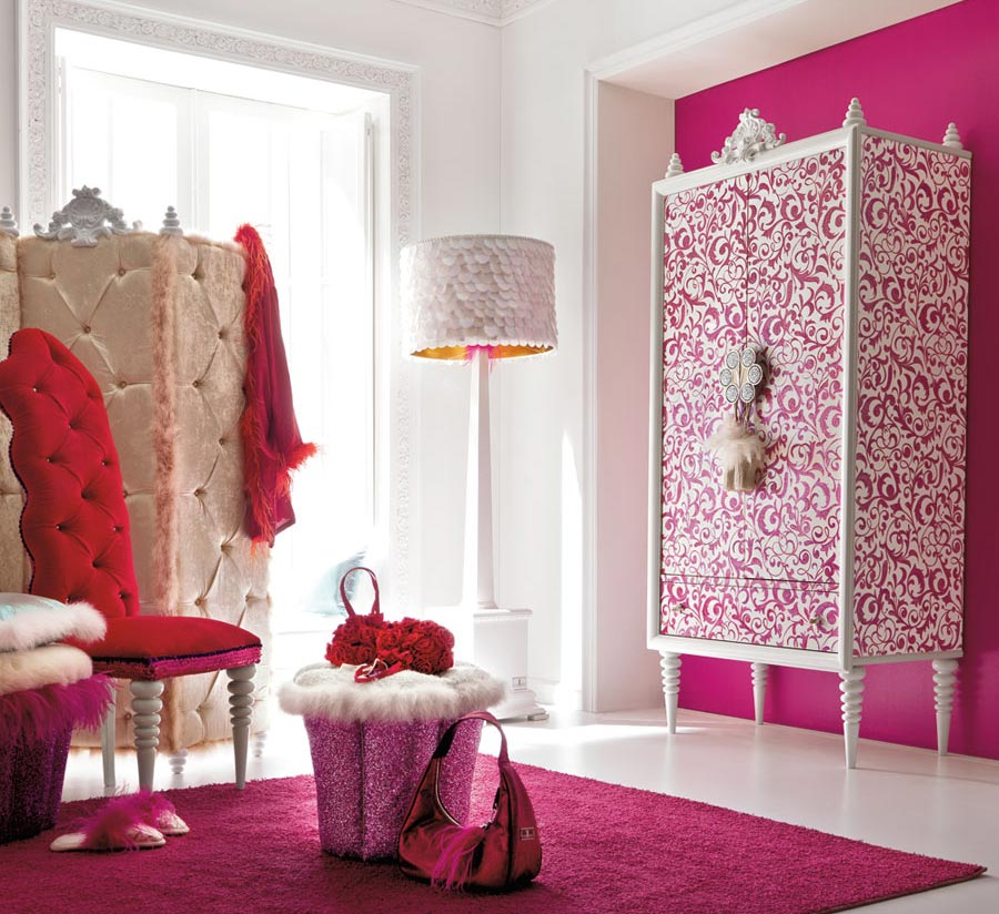 Girls Room Design At Charming And Opulent Pink Girls Room Ideasjpg