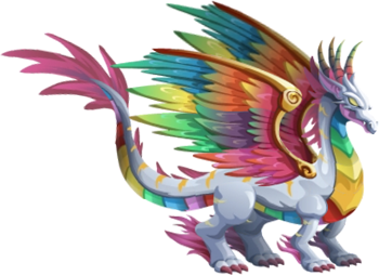 imagen del dragon arco iris adulto