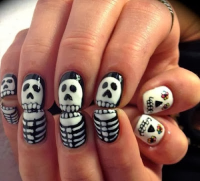 Wonderful Easy Halloween Nail Art