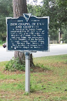 Historical Marker, Zion Chapel of Ease & Cemetery