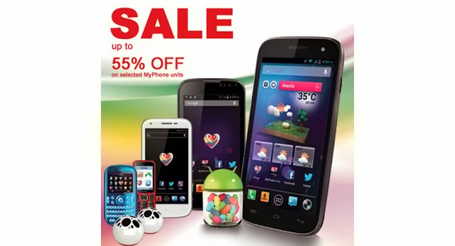 MyPhone is giving a 55% off on their selected items starting December