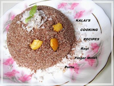 Kelvaragu Puttu | கேழ்வரகு புட்டு | Finger Millet \ Ragi Puttu