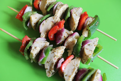 Vegetarian souvlaki skewers