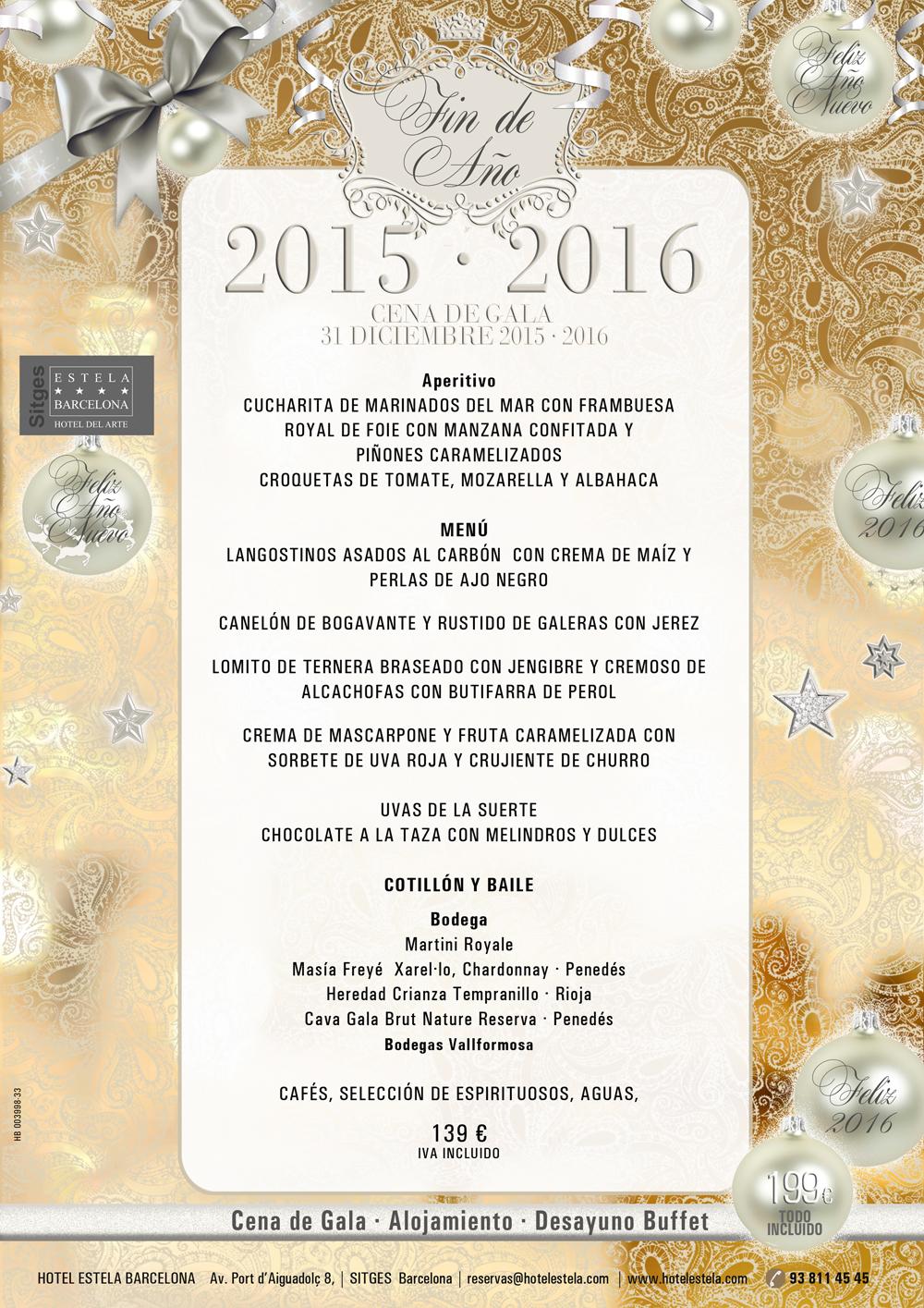 Cena de gala fin de a o 2015 2016 en el restaurante iris for Menu de fin de ano en casa