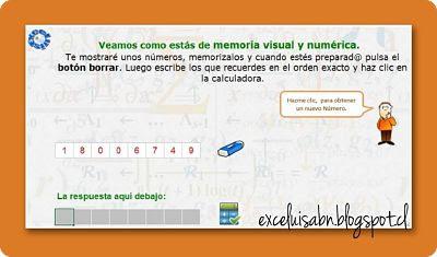 Memoria numérica visual.