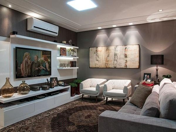 Rack Sala De Estar Grande ~  Espaço Modelos De Painéis Para Home Theaters Integrados Ao Living