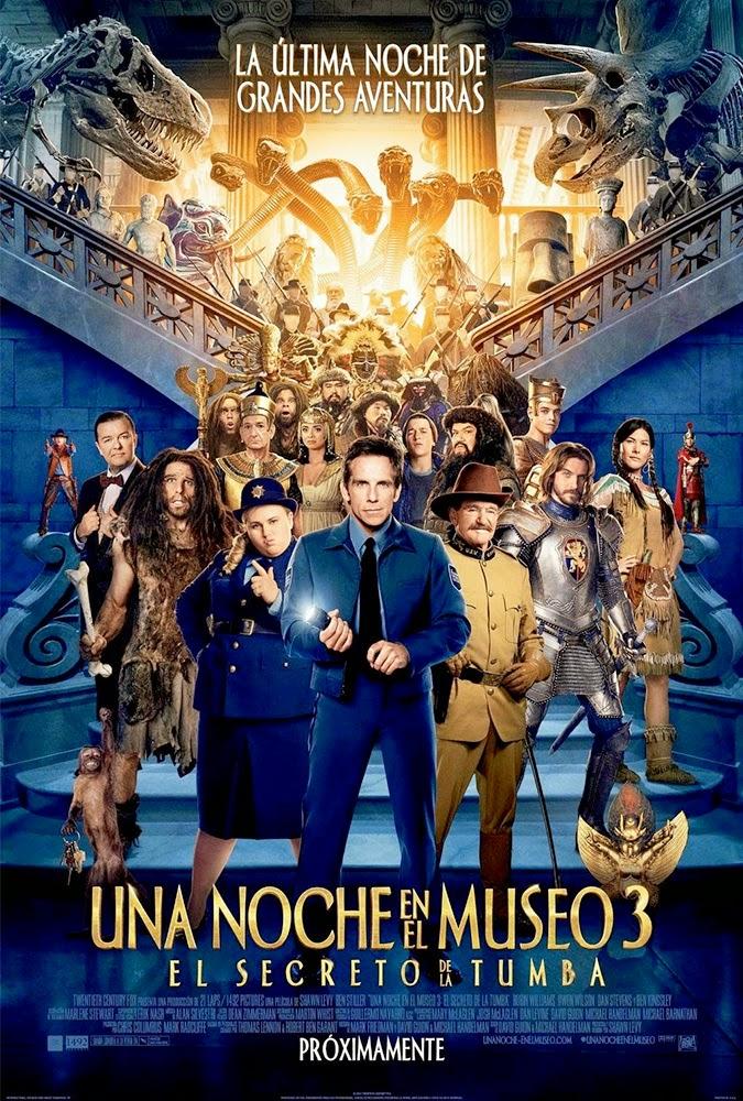 Descarga Una Noche en el Museo 3. El Secreto de la Tumba [1080p] [AudioDual] (2014) 1 link Audio Latino