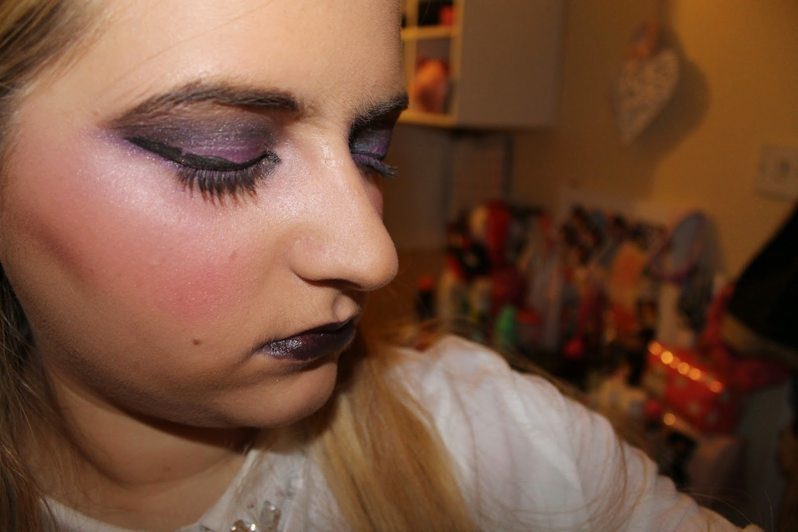 Purple and black dress makeup pictures