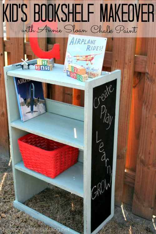 Here Comes The Sun Kids Bookshelf Makeover With Annie Sloan Chalk Paint