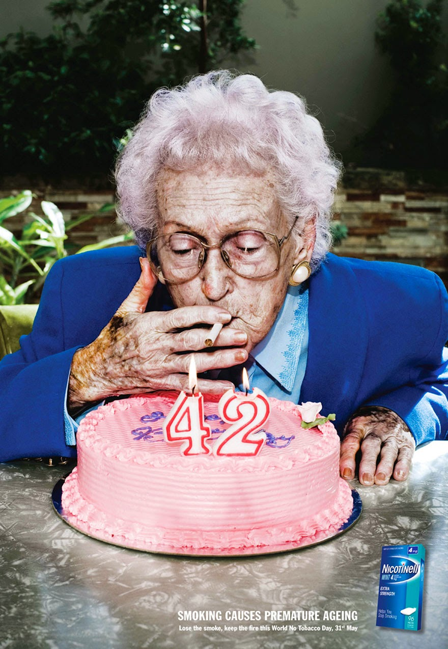 40 Of The Most Powerful Social Issue Ads That'll Make You Stop And Think - Smoking Causes Premature Aging