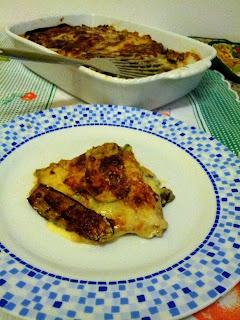 lasagne di crespelle con verdure e mozzarella e