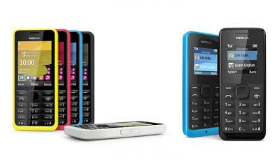 Nokia 105 dan 301