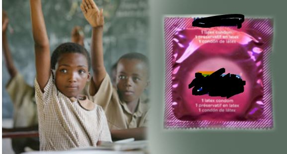 distributing condoms to high school students