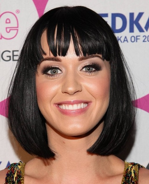 Katy Perry Bob Hairstyles for Black Women with Bangs
