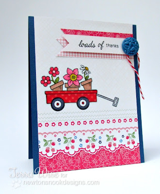 Wagon of Wishes Thanks card -Tessa Wise for Newton's Nook Designs