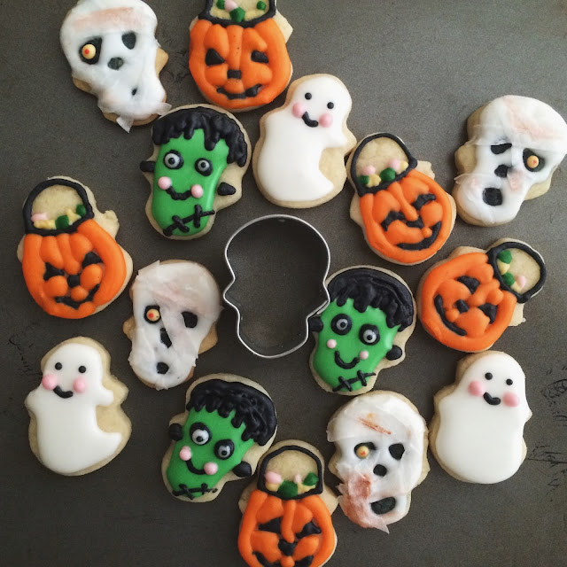 Mini Halloween - Cookie Cupcake Toppers - Sweet Jenny Belle