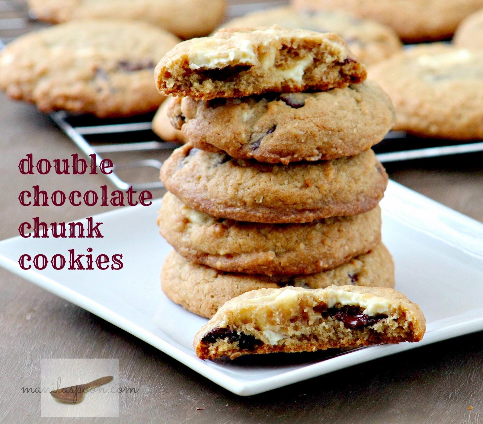 Double Chocolate Chunk Cookies | Manila Spoon